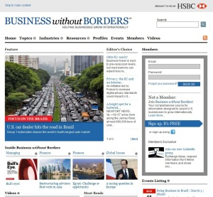 El portal de noticias de Business without Borders (HSBC)