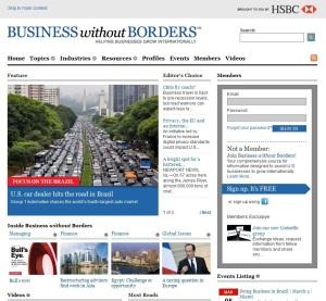 El portal de noticias de Business without Borders (HSBC)