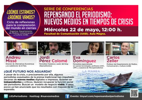 Estudiantes de periodismo organizan una serie de charlas sobre #nuevosmedios en la UAB