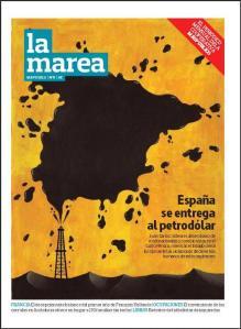 Portada del quinto número de la revista mensual La Marea (mayo 2013)