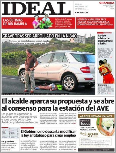 Portada diario Ideal 19/09/13