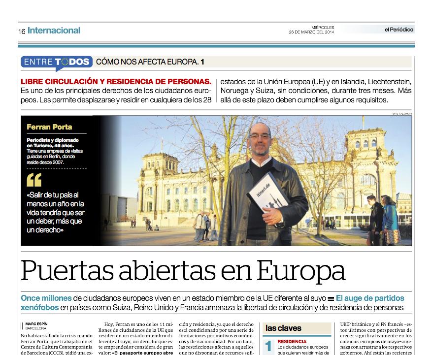 Reportaje publicado en El Periódico de Catalunya el 26 de marzo del 2014 // Marc Espín