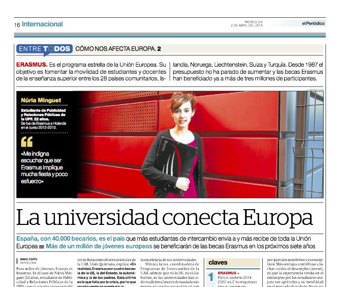 Reportaje publicado en El Periódico de Catalunya el 2 de abril del 2014 // Marc Espín