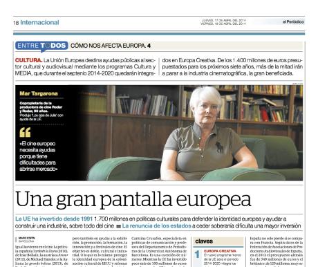 Reportaje publicado en El Periódico de Catalunya el 17-18 de abril del 2014 // Marc Espín