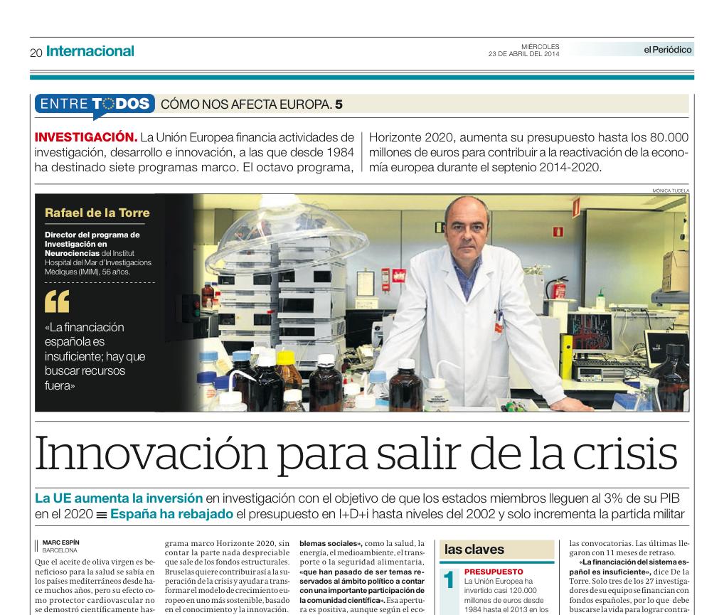 CÓMO NOS AFECTA EUROPA 5: Investigación (I+D+i) | Innovación para salir de la crisis