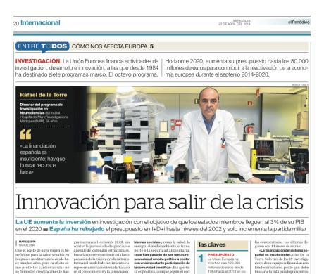 Reportaje publicado en El Periódico de Catalunya el 23 de abril del 2014 // Marc Espín