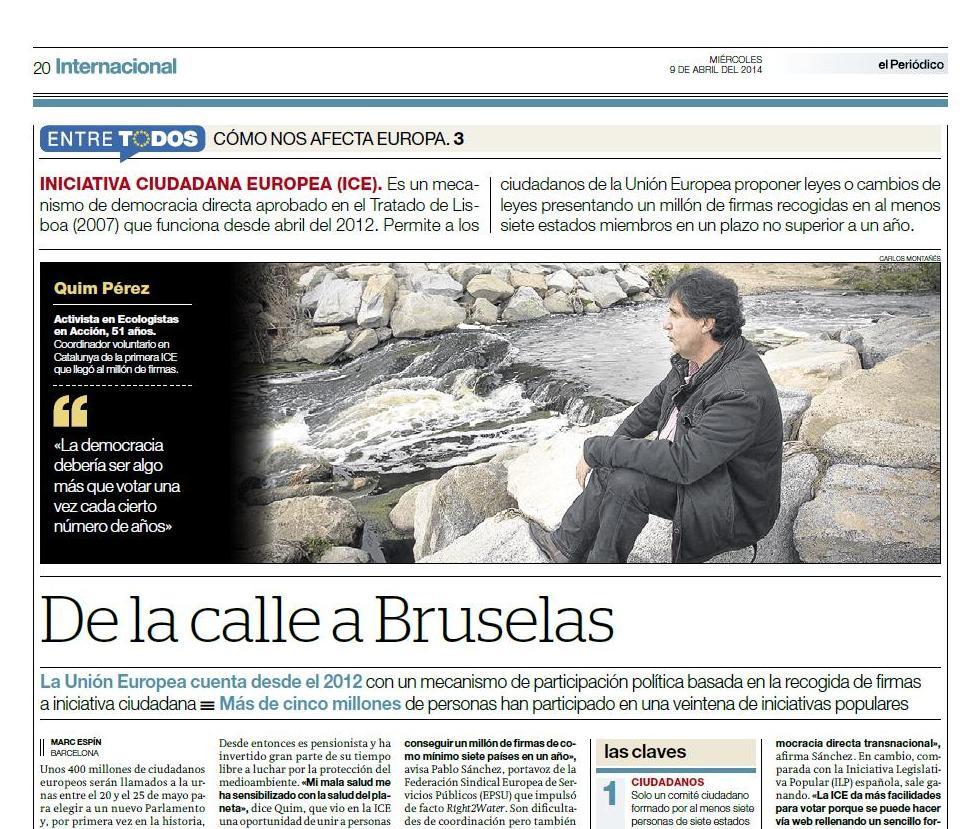Reportaje publicado en El Periódico de Catalunya el 9 de abril del 2014 // Marc Espín