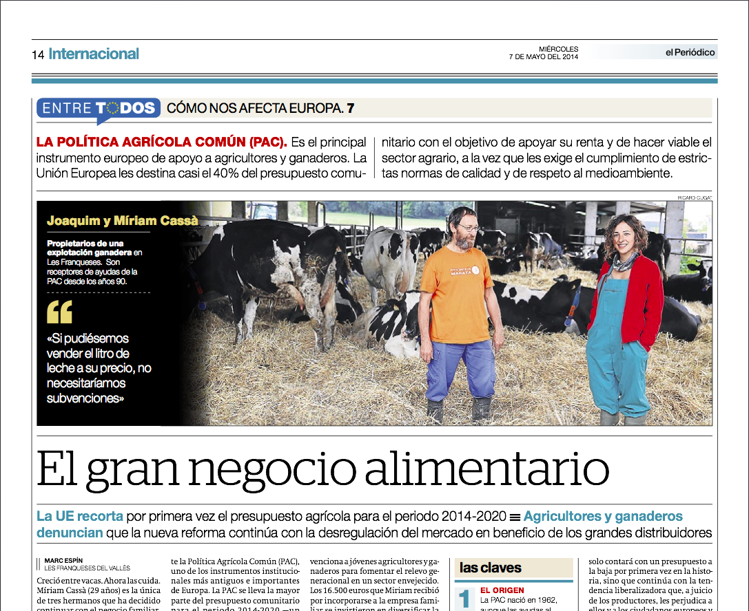 CÓMO NOS AFECTA EUROPA 7: Política Agrícola Común | El gran negocio alimentario