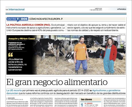 Reportaje publicado en El Periódico de Catalunya el 7 de mayo del 2014 // Marc Espín