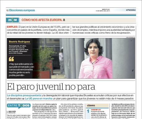 Reportaje publicado en El Periódico de Catalunya el 14 de mayo del 2014 // Marc Espín