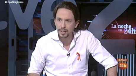 Pablo Iglesias en La noche en 24 horas